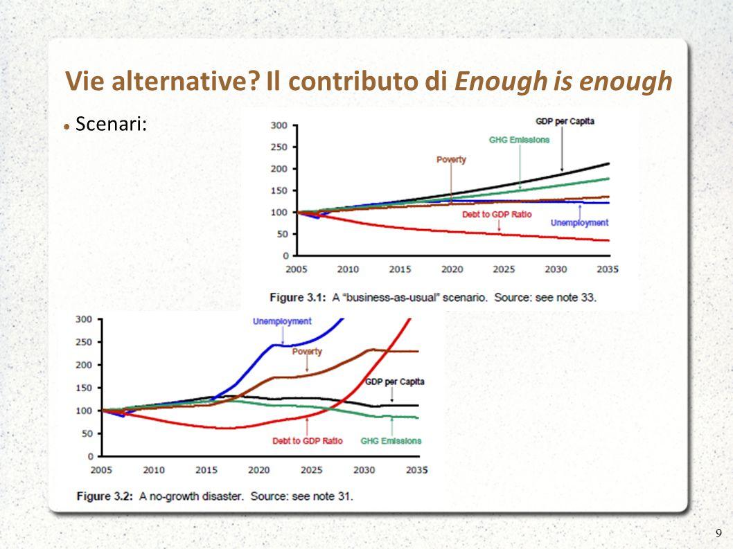 Vie alternative? Il contributo di Enough is enough Scenari: 10