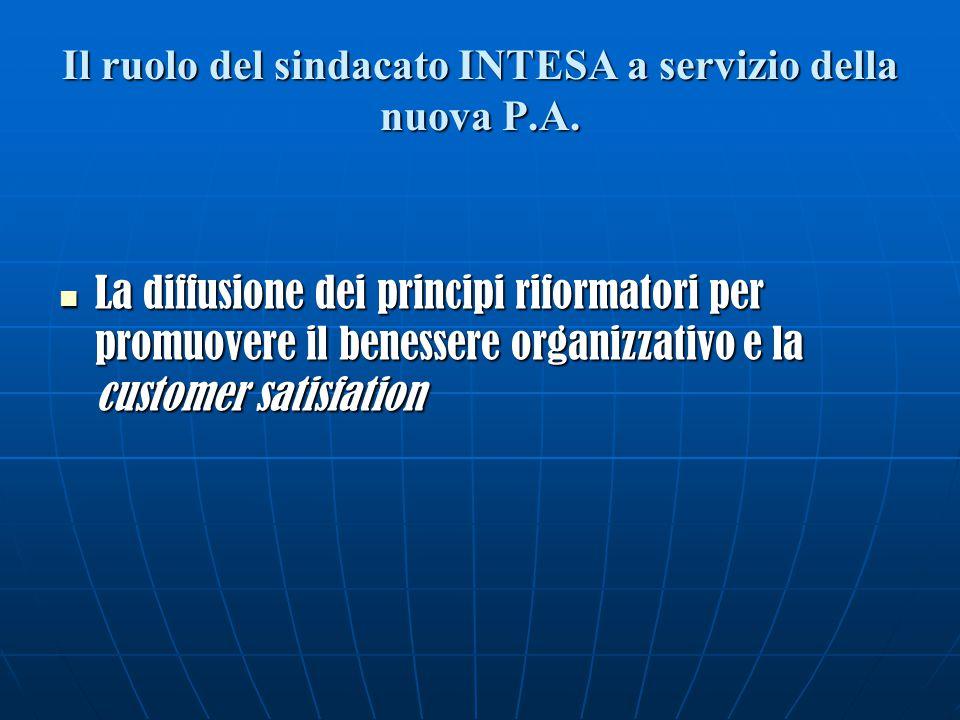 Il ruolo del sindacato INTESA a servizio della nuova P.A.
