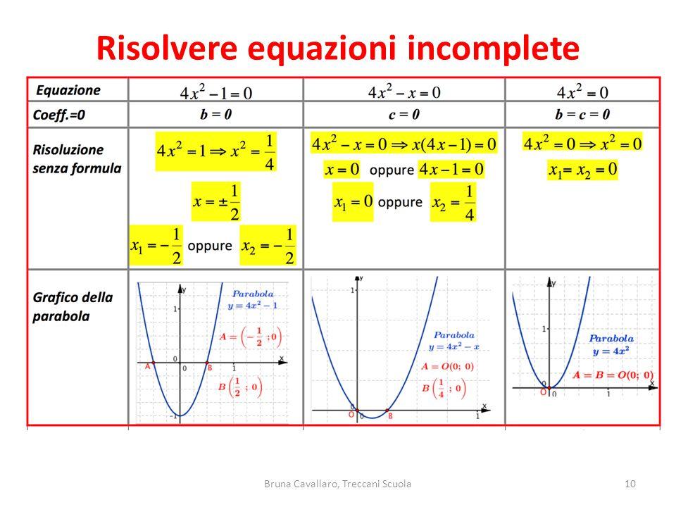 10Bruna Cavallaro, Treccani Scuola Risolvere equazioni incomplete