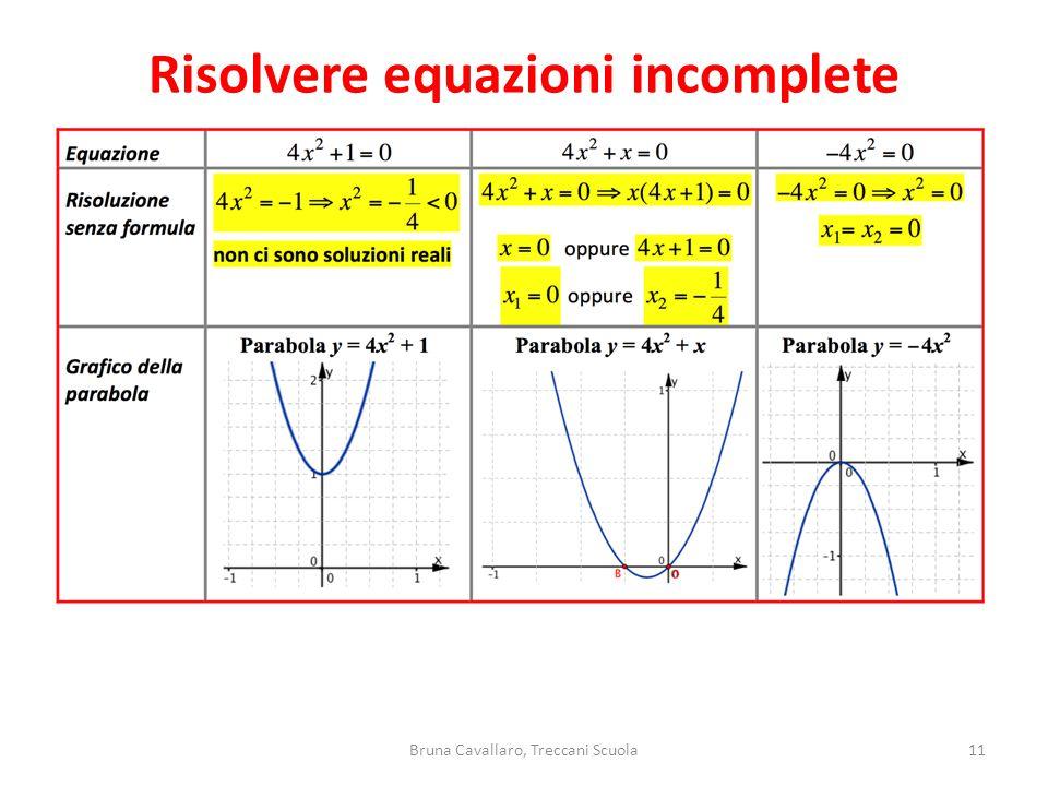 11Bruna Cavallaro, Treccani Scuola Risolvere equazioni incomplete