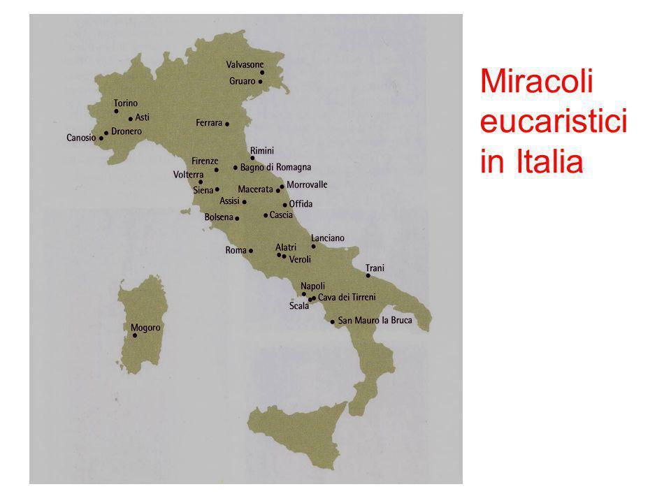 Miracoli eucaristici in Italia