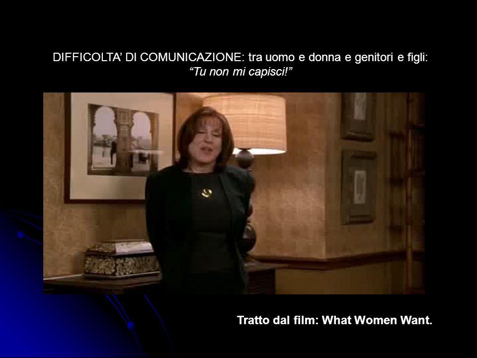 """DIFFICOLTA' DI COMUNICAZIONE: tra uomo e donna e genitori e figli: """"Tu non mi capisci!"""" Tratto dal film: What Women Want."""