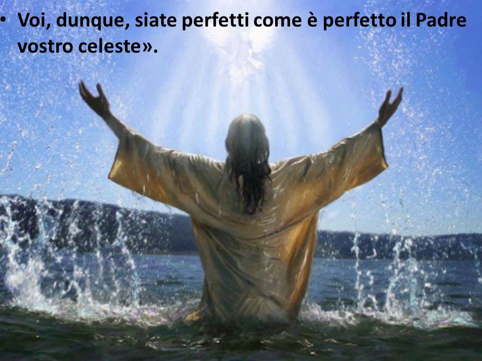 Voi, dunque, siate perfetti come è perfetto il Padre vostro celeste».