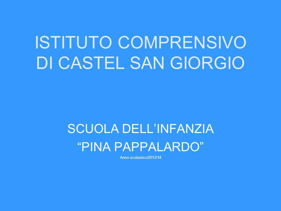 """ISTITUTO COMPRENSIVO DI CASTEL SAN GIORGIO SCUOLA DELL'INFANZIA """"PINA PAPPALARDO"""" Anno scolastico2013/14"""