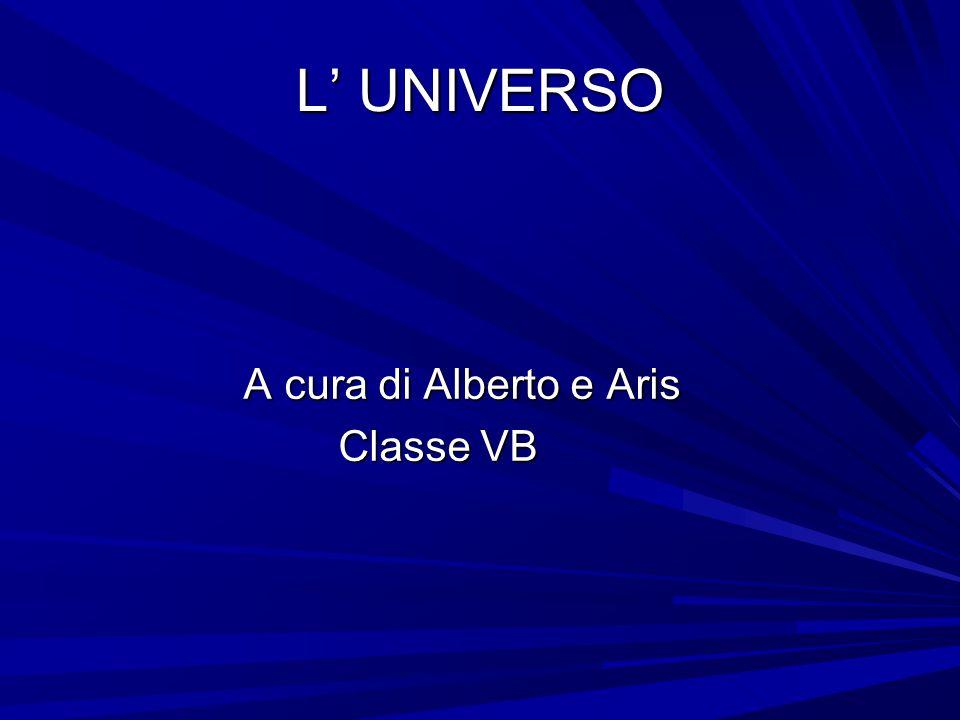 L' UNIVERSO A cura di Alberto e Aris A cura di Alberto e Aris Classe VB Classe VB