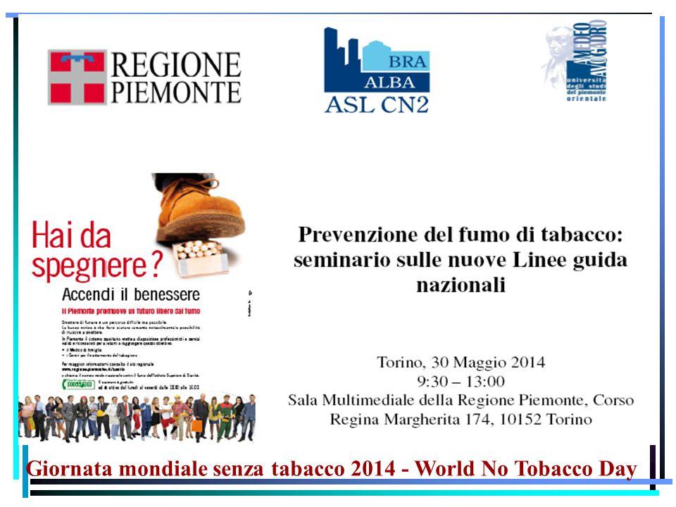 Giornata mondiale senza tabacco 2014 - World No Tobacco Day