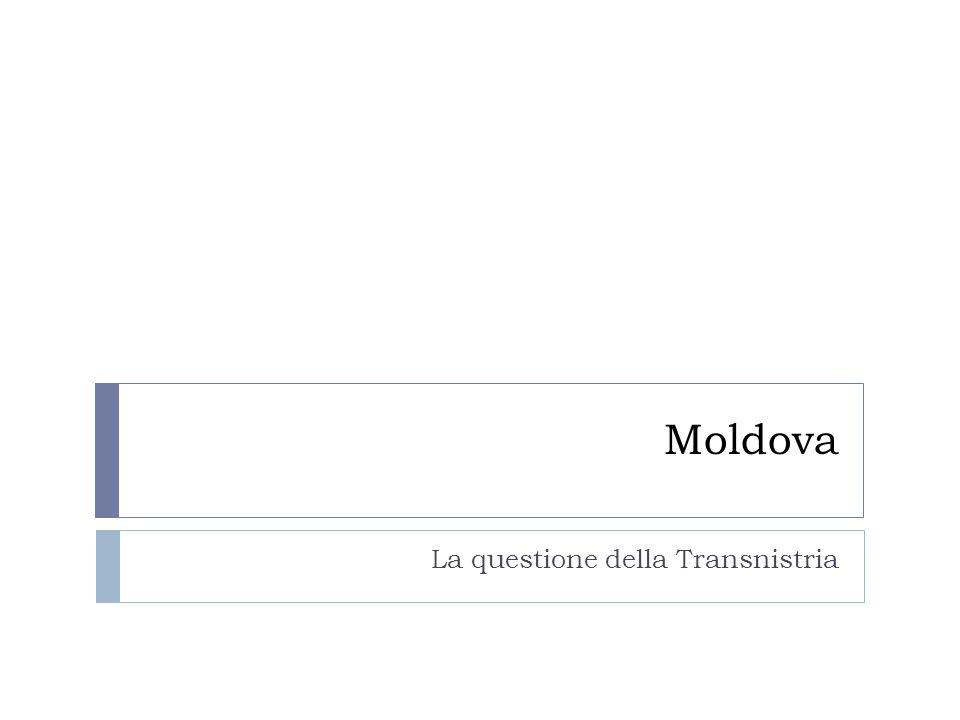 Moldova La questione della Transnistria