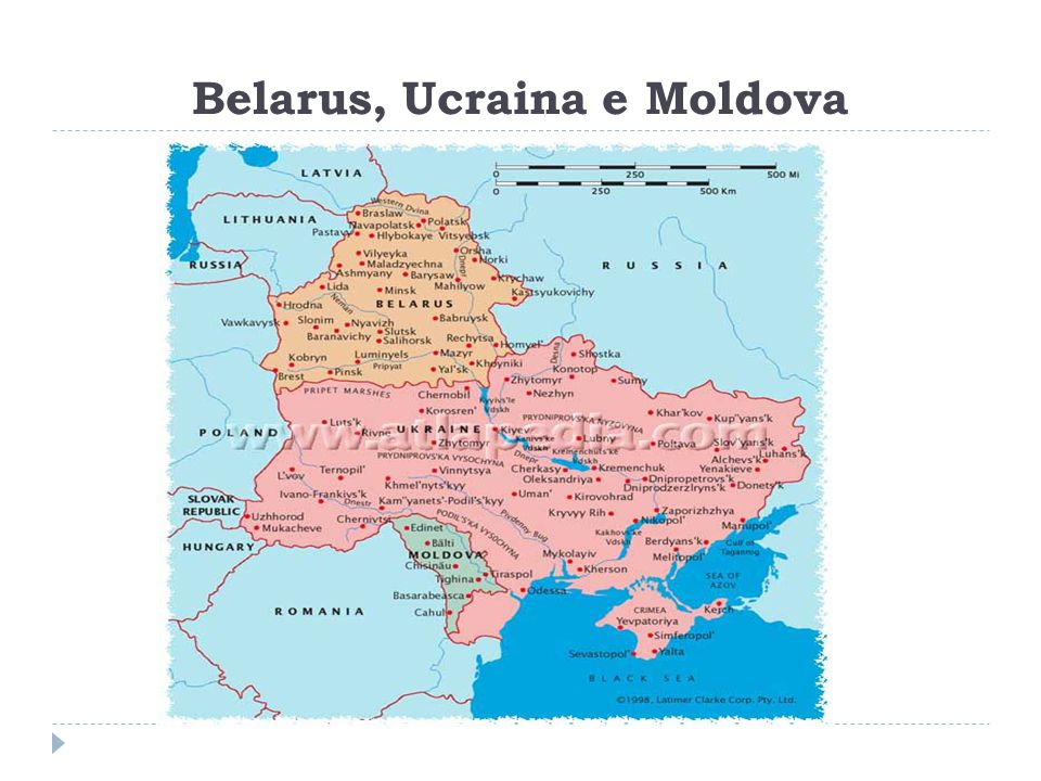 Belarus, Ucraina e Moldova