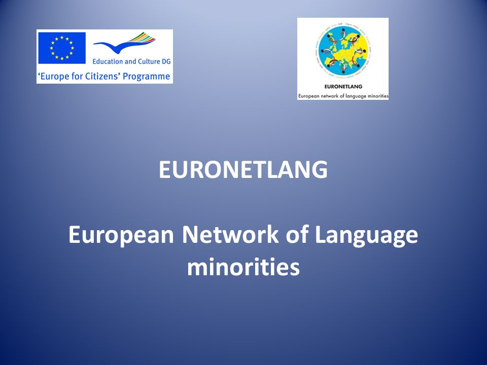 EURONETLANG European Network of Language minorities