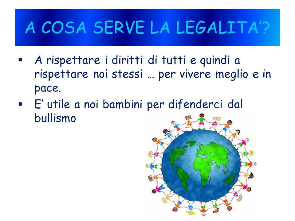 Vorrei che la legalità… Vorrei che a scuola insegnassero come materia la legalità, che ci parlassero delle conseguenze di comportamenti sbagliati e ch