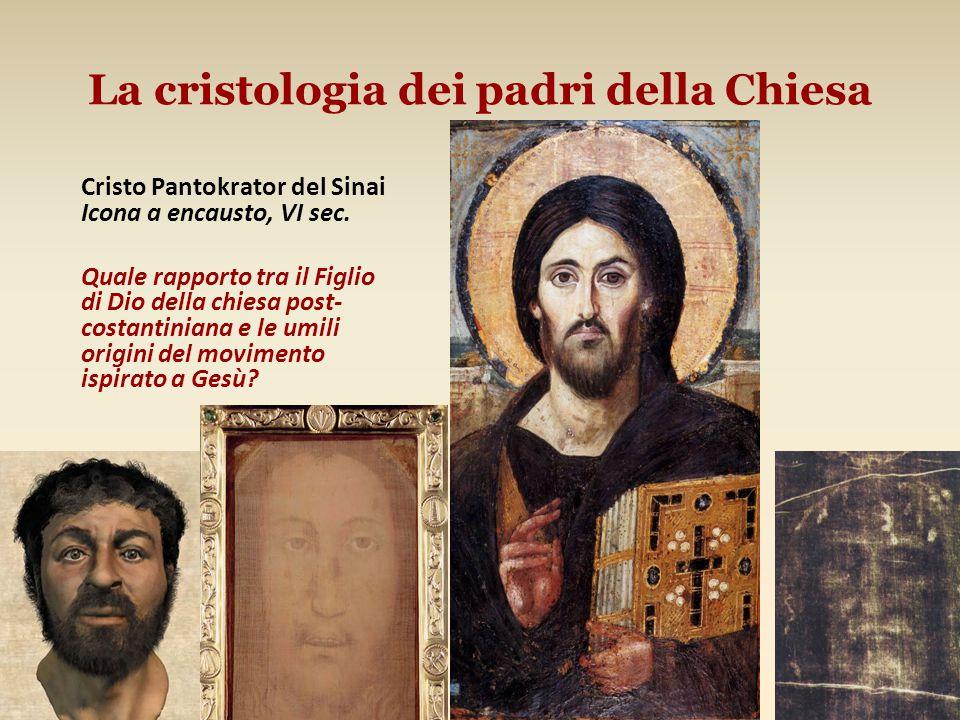 La cristologia dei padri della Chiesa Cristo Pantokrator del Sinai Icona a encausto, VI sec.