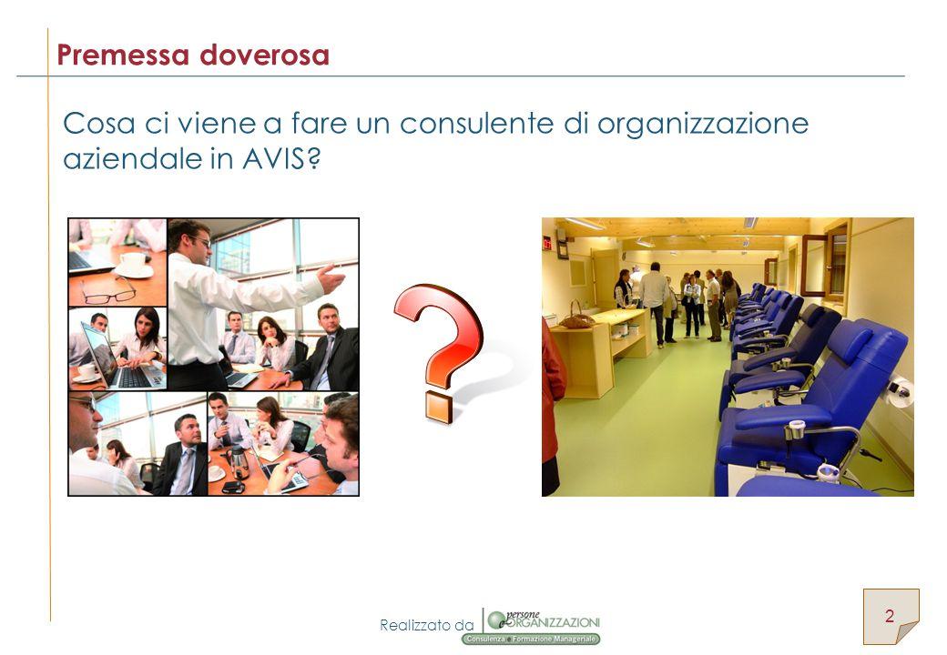 Realizzato da Cosa ci viene a fare un consulente di organizzazione aziendale in AVIS.