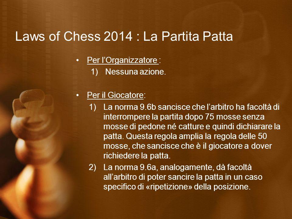 Laws of Chess 2014 : Promozione del pedone Articolo 4.6 ( Esecuzione della promozione ) «L'atto della promozione può essere eseguito in varie maniere: 1.