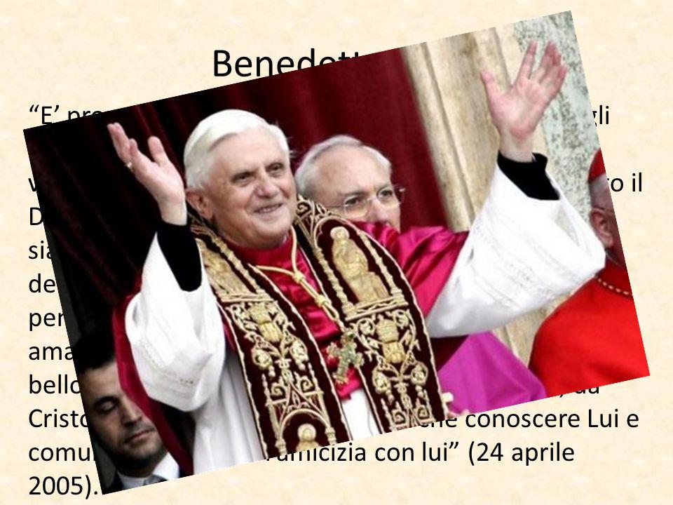 """Benedetto XVI: """"E' proprio così: noi esistiamo per mostrare Dio agli uomini. E solo laddove si vede Dio, comincia veramente la vita. Solo quando incon"""