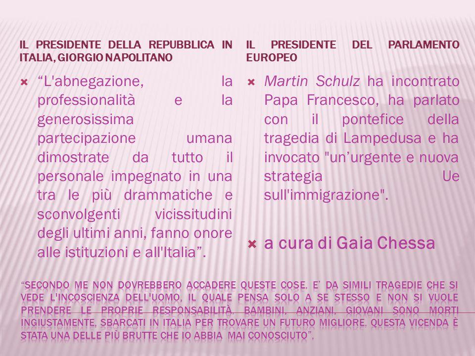 Il 4 ottobre 2013 è stato proclamato il lutto nazionale e si è osservato un minuto di silenzio in tutte le scuole dell'Italia.