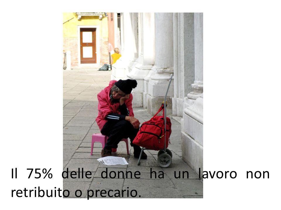 Il 75% delle donne ha un lavoro non retribuito o precario.