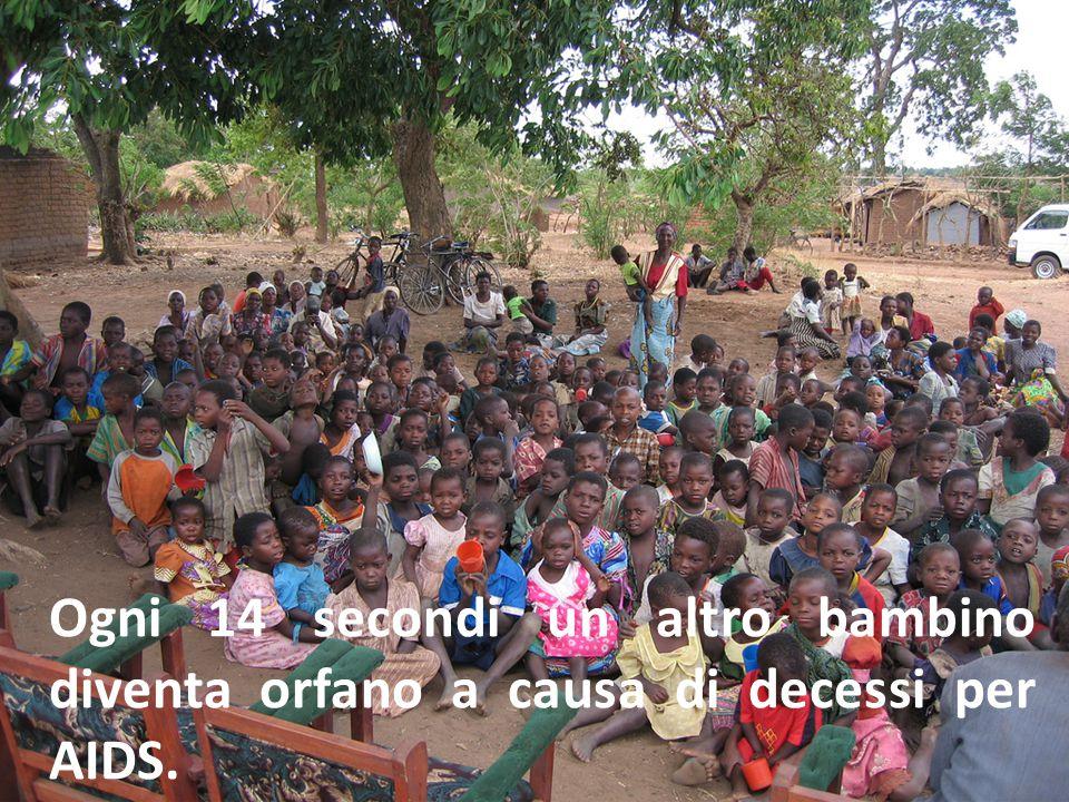 Ogni 14 secondi un altro bambino diventa orfano a causa di decessi per AIDS.