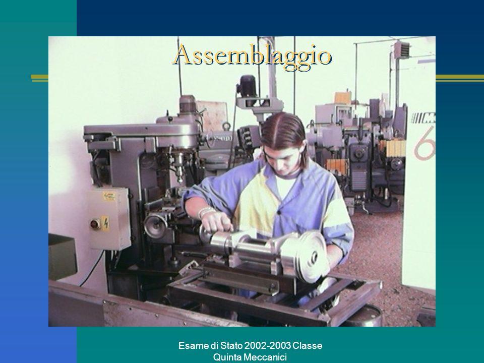 Esame di Stato 2002-2003 Classe Quinta Meccanici Assemblaggio