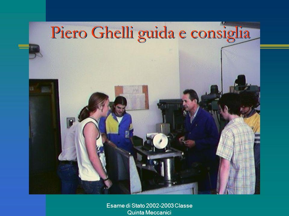 Esame di Stato 2002-2003 Classe Quinta Meccanici Piero Ghelli guida e consiglia