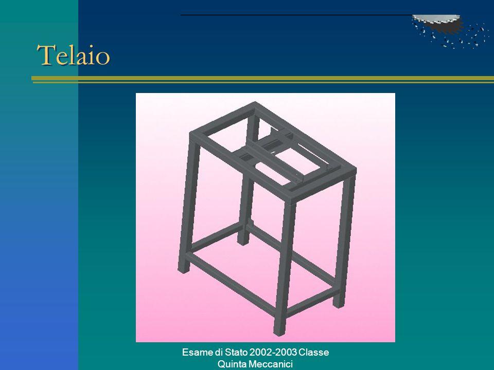 Esame di Stato 2002-2003 Classe Quinta Meccanici Telaio