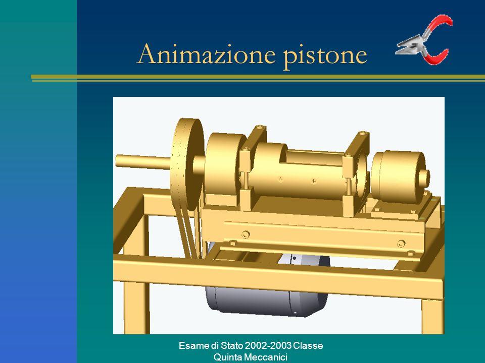 Esame di Stato 2002-2003 Classe Quinta Meccanici Animazione pistone