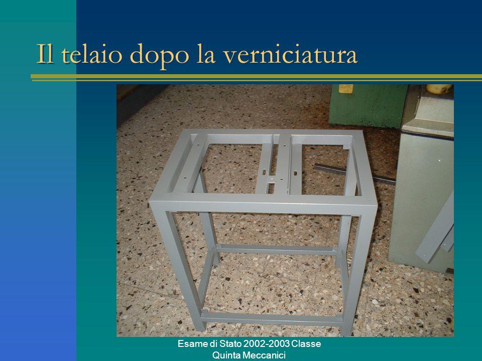 Esame di Stato 2002-2003 Classe Quinta Meccanici Il telaio dopo la verniciatura