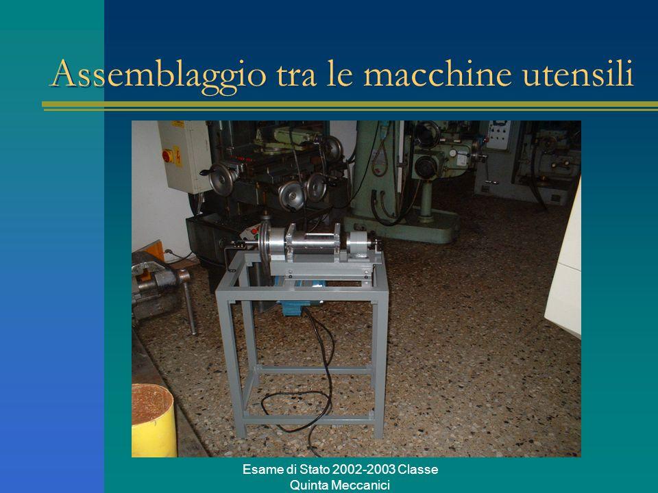 Esame di Stato 2002-2003 Classe Quinta Meccanici Assemblaggio tra le macchine utensili