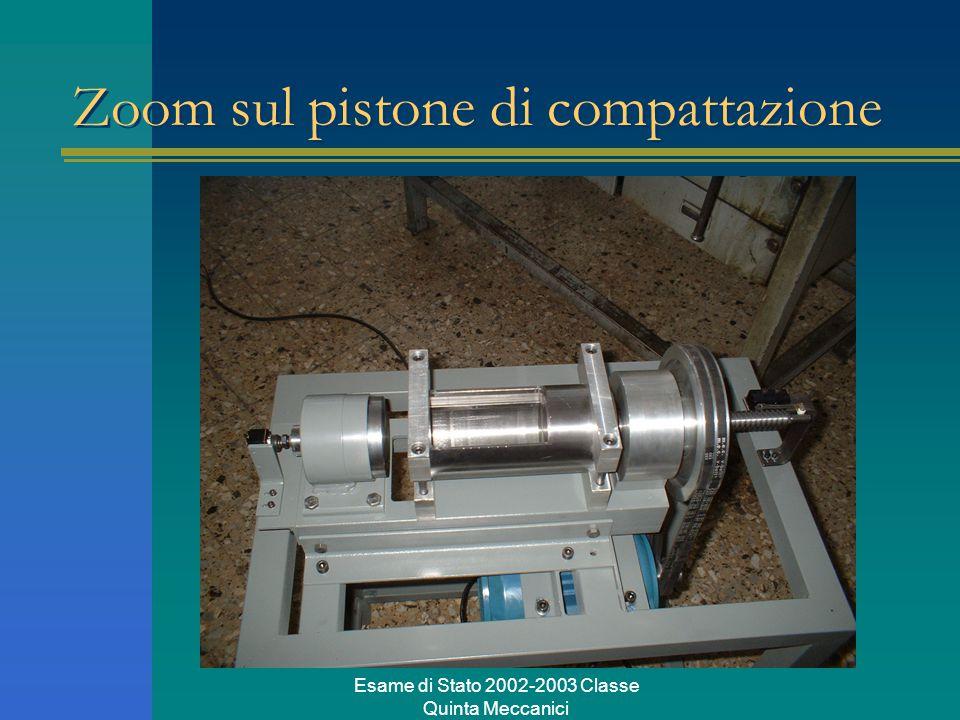 Esame di Stato 2002-2003 Classe Quinta Meccanici Zoom sul pistone di compattazione