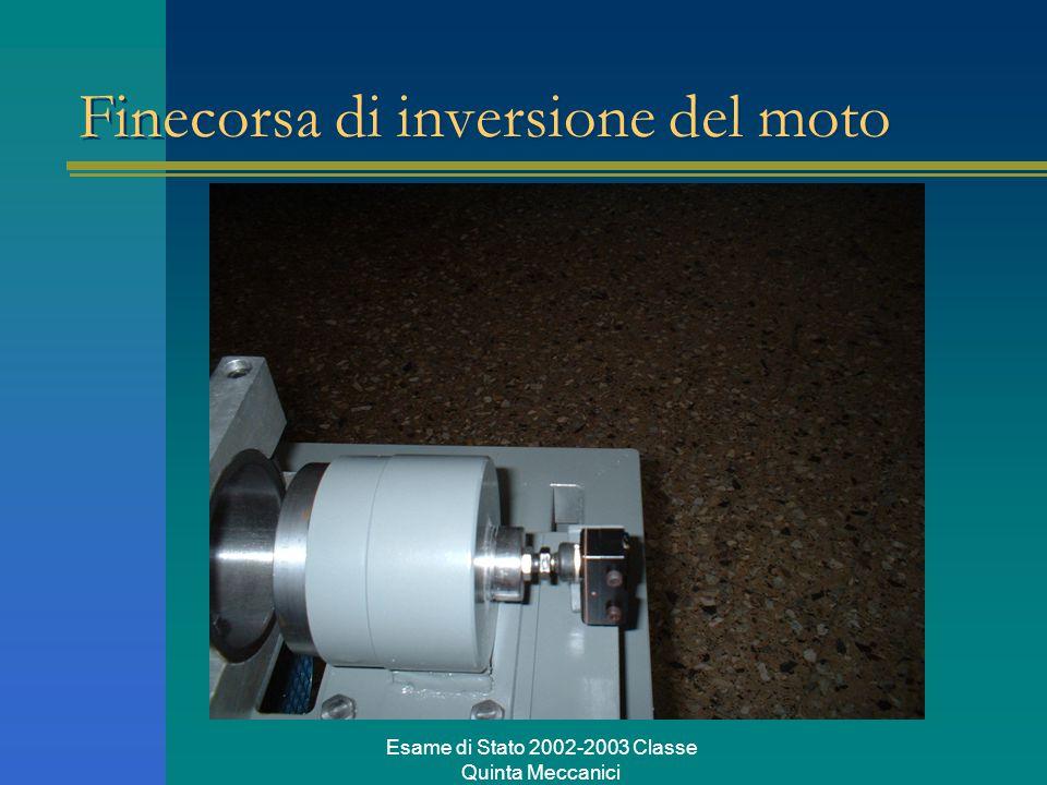 Esame di Stato 2002-2003 Classe Quinta Meccanici Finecorsa di inversione del moto