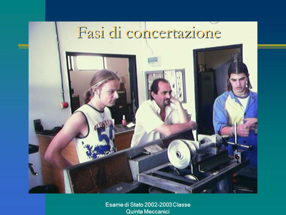 Esame di Stato 2002-2003 Classe Quinta Meccanici Fasi di concertazione