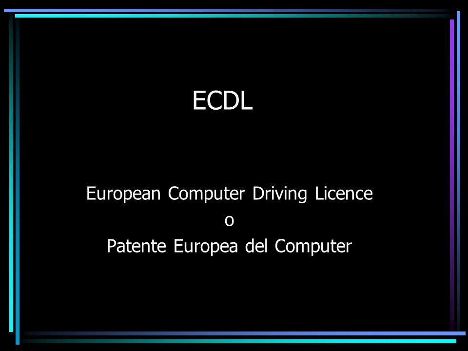 ECDL European Computer Driving Licence o Patente Europea del Computer