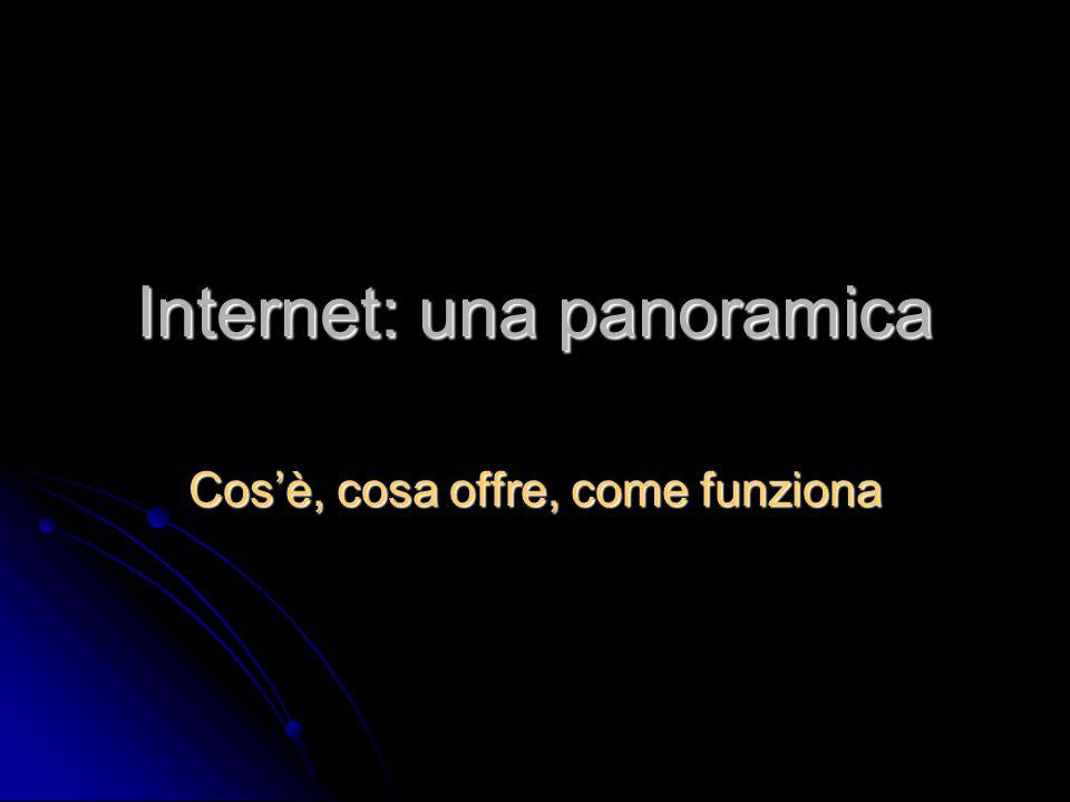 Internet: una panoramica Cos'è, cosa offre, come funziona
