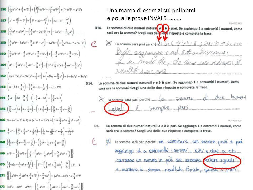 Una marea di esercizi sui polinomi e poi alle prove INVALSI ……..