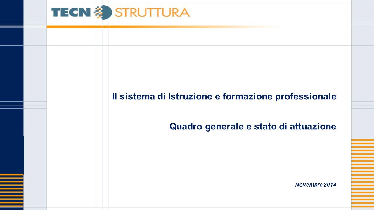 Il sistema di Istruzione e formazione professionale Quadro generale e stato di attuazione Novembre 2014
