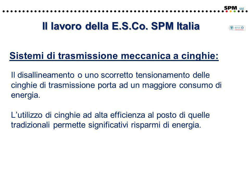 Sistemi di trasmissione meccanica a cinghie: SSE Il lavoro della E.S.Co.