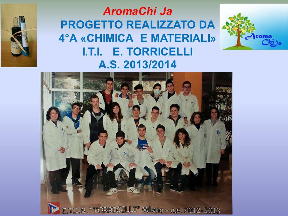 AromaChi Ja PROGETTO REALIZZATO DA 4°A «CHIMICA E MATERIALI» I.T.I. E. TORRICELLI A.S. 2013/2014