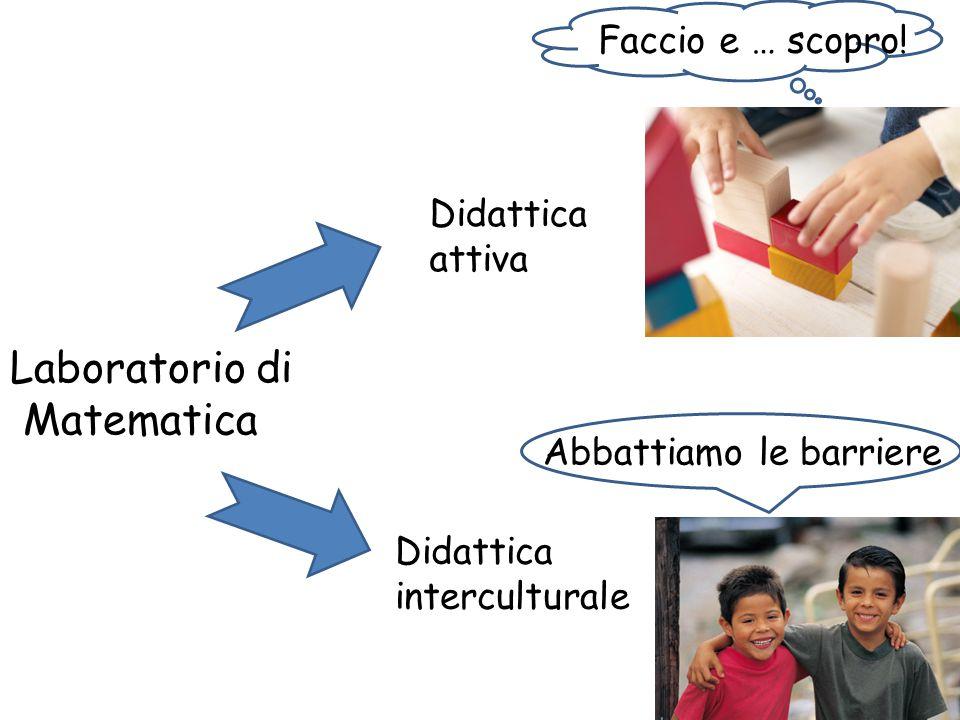 Laboratorio di Matematica Didattica attiva Didattica interculturale Faccio e … scopro! Abbattiamo le barriere