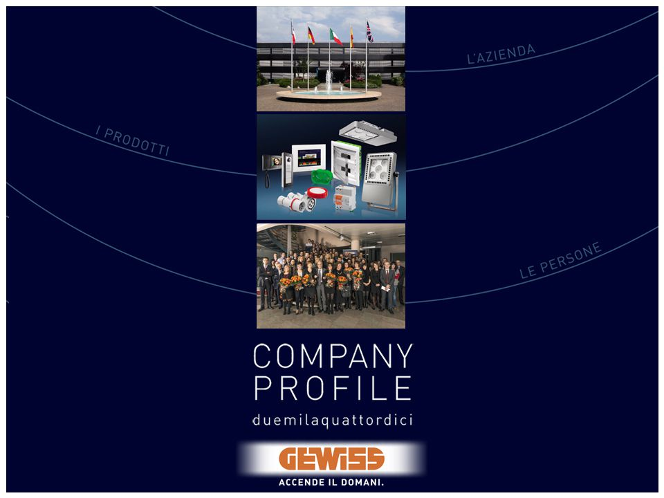 Filosofia e valori Il Gruppo Soluzioni innovative I servizi al mercato Etica e ambiente Noi della GEWISS