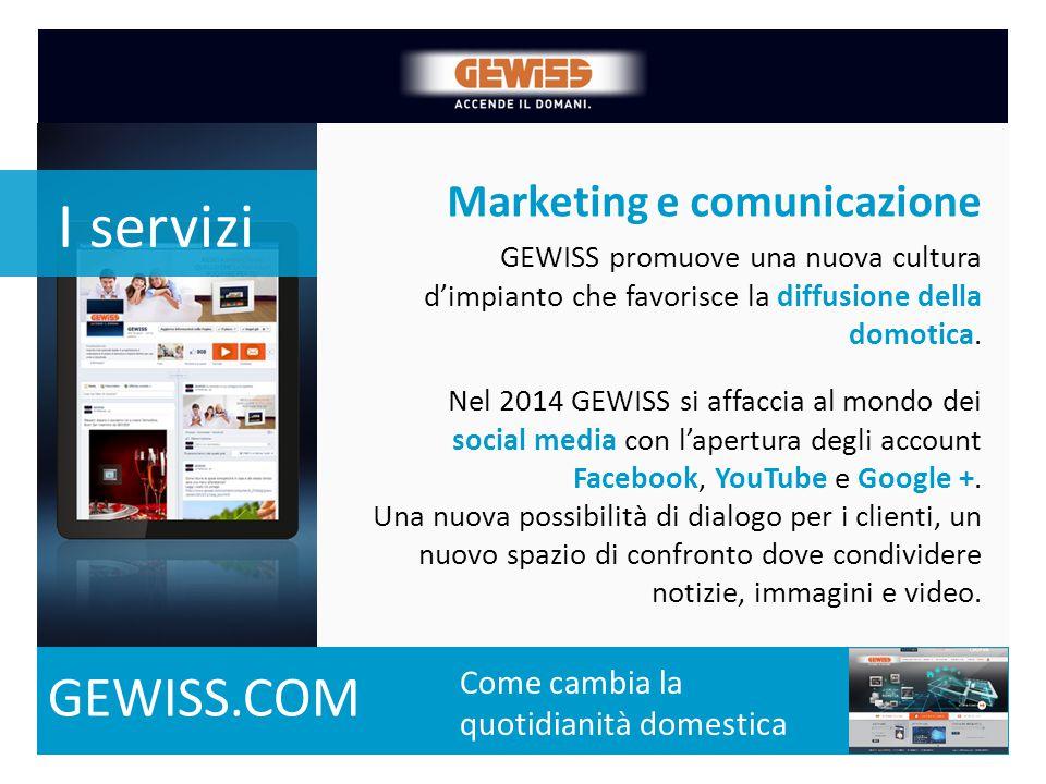 Marketing e comunicazione La crescita dal 2000 del numero di prodotti a catalogo Come cambia la quotidianità domestica GEWISS promuove una nuova cultu