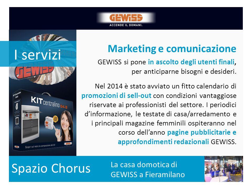 Marketing e comunicazione La crescita dal 2000 del numero di prodotti a catalogo La casa domotica di GEWISS a Fieramilano GEWISS si pone in ascolto de