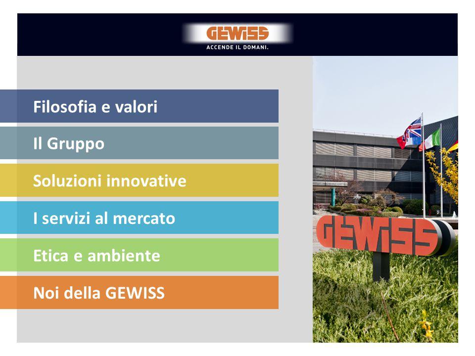 Responsabilità sociale Le risorse umane sono un elemento fondamentale per il successo di GEWISS e un fattore determinante per garantire innovazione e sviluppo.
