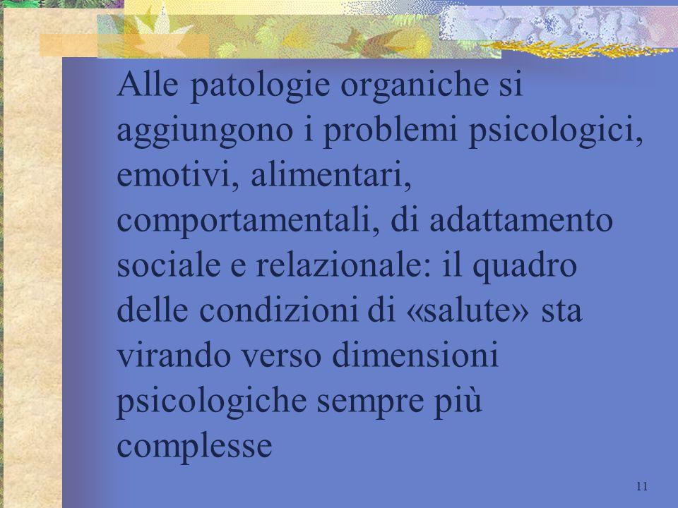 Alle patologie organiche si aggiungono i problemi psicologici, emotivi, alimentari, comportamentali, di adattamento sociale e relazionale: il quadro d