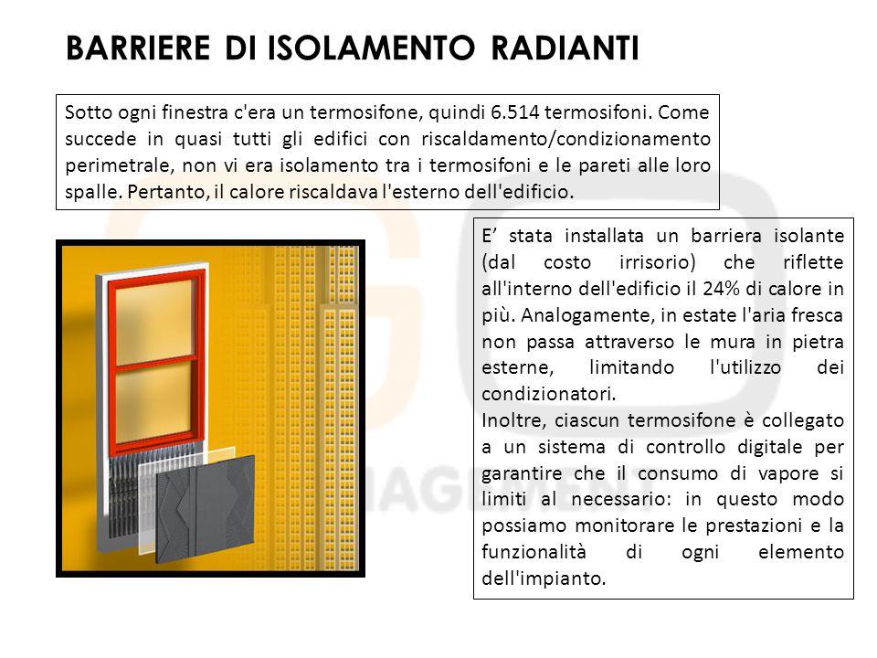 BARRIERE DI ISOLAMENTO RADIANTI Sotto ogni finestra c era un termosifone, quindi 6.514 termosifoni.