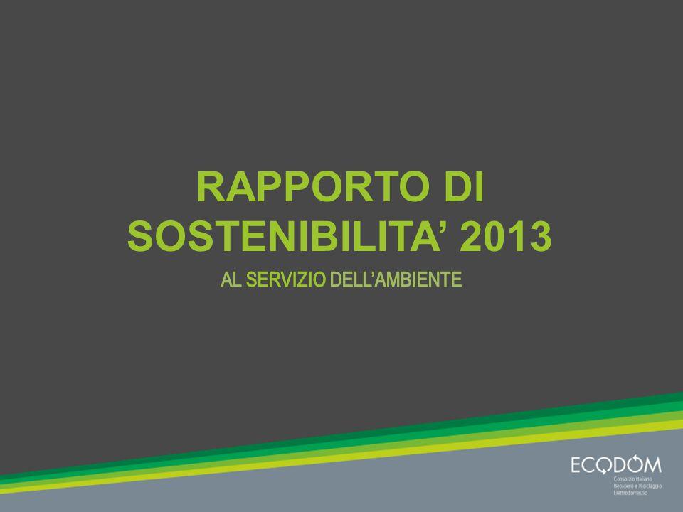 I contenuti del Rapporto I RAEE e la loro gestione La filiera di Ecodom I risultati operativi e ambientali L attenzione alle persone La performance economica