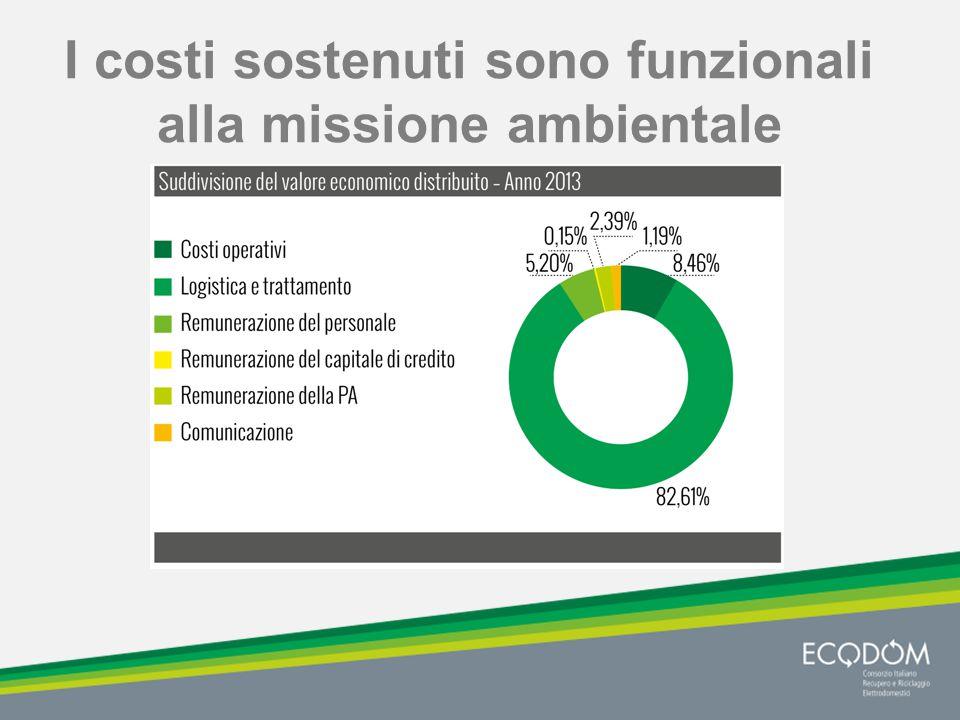 I costi sostenuti sono funzionali alla missione ambientale
