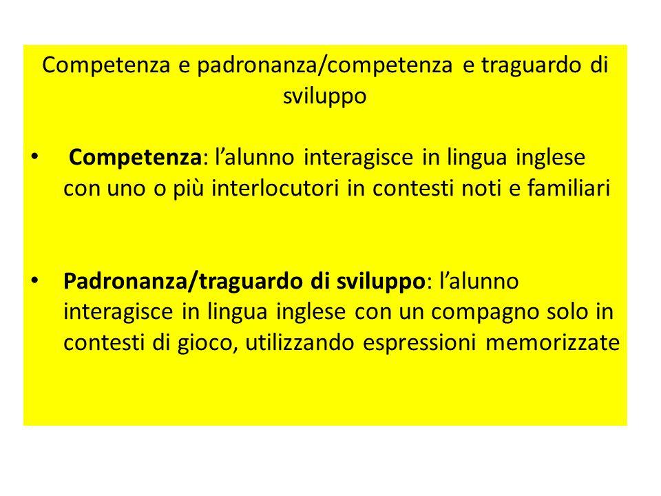 Il curricolo per competenze Costruire un curricolo per competenze implica, da parte della scuola e dei docenti, fissare e raggiungere i traguardi di p