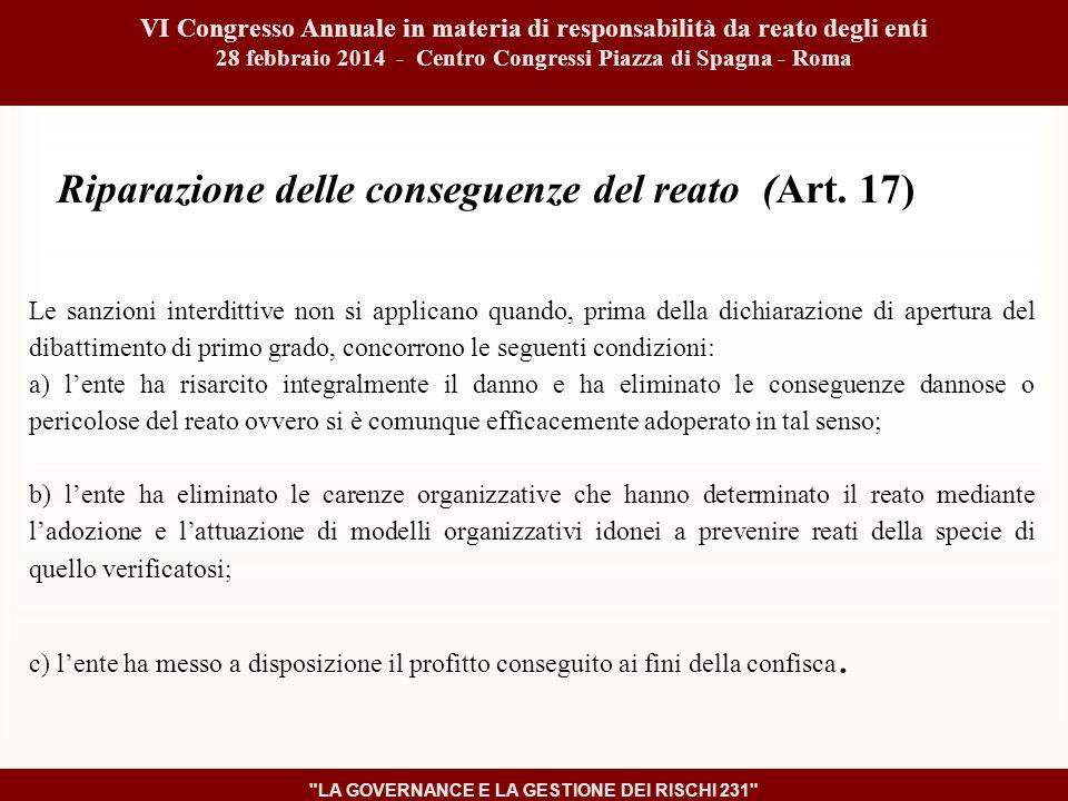 Riparazione delle conseguenze del reato (Art.