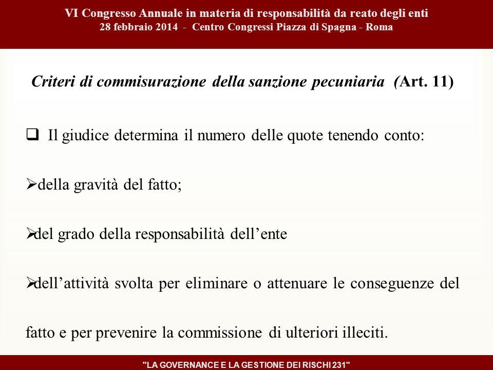 Criteri di commisurazione della sanzione pecuniaria (Art.