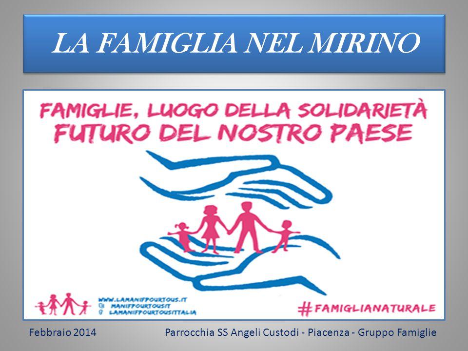 LA FAMIGLIA NEL MIRINO Febbraio 2014Parrocchia SS Angeli Custodi - Piacenza - Gruppo Famiglie
