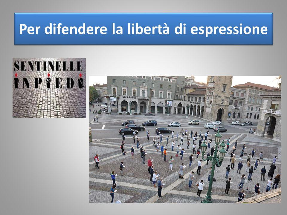 Per difendere la libertà di espressione